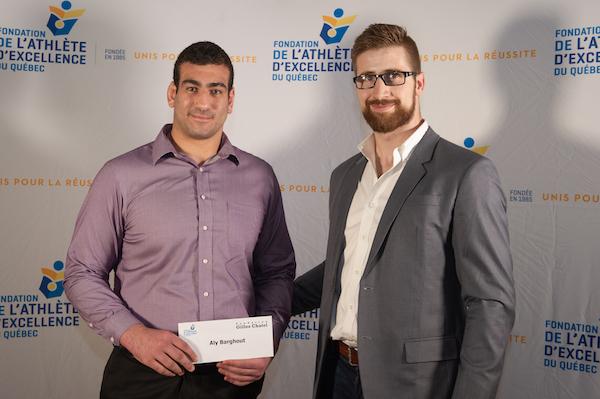 Aly Barghout reçoit la bourse de la FAEQ 2018