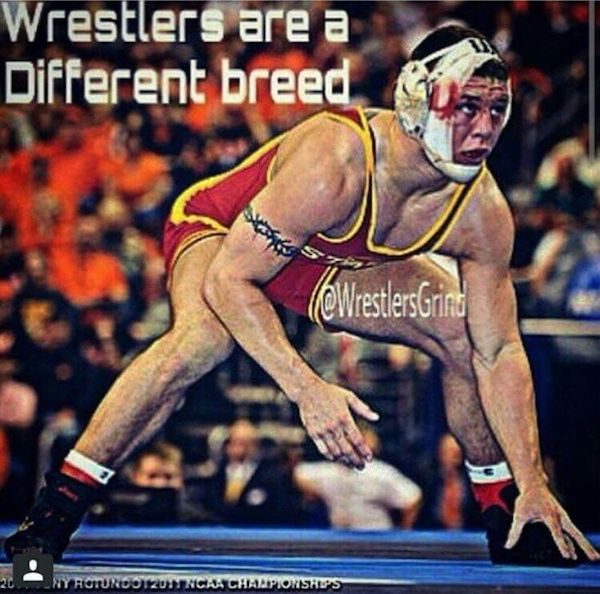 The intangibles to being a wrestler