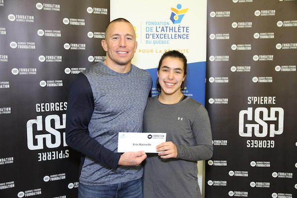 Erin Rainville wins the George St-Pierre Bursary